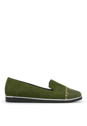 Carlo Rino green Carlo Rino 33320-A003-36 Pointed Toe Flats (Green) F7EA0SH0F4434AGS_1