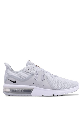 Nike grey Nike Air Max Sequent 3 Shoes 68C1DSH124D804GS_1