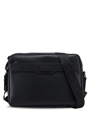 Playboy black Genuine Leather Sling Bag 35E91AC4DEE920GS_1