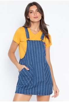 116113fa6e2 Penshoppe blue Striped Jumper Skirt F08FEAA036F0D0GS 1