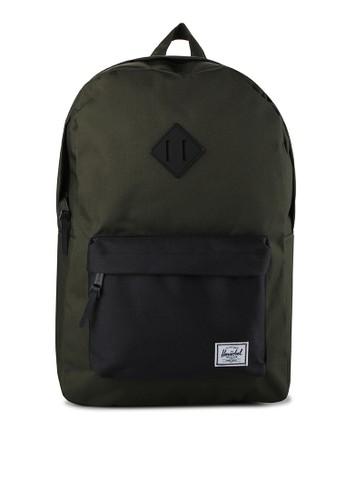 Herschel green Heritage Backpack HE449AC0UDM5ID_1