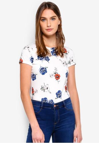 Dorothy Perkins white Print T-Shirt 348DDAAFD714A1GS_1