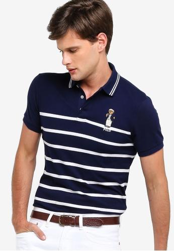 ead454ccb7ecdb Polo Ralph Lauren navy Short Sleeve Custom Fit Basic Mesh Polo Shirt  283B5AACD7CE89GS 1