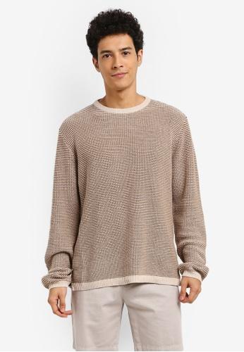 Cotton On beige Split Hem Knit Jumper 58421AA8445302GS_1