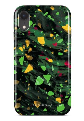 Polar Polar green Malachite Terrazzo Gem Dual-Layer Tough Case Glossy For iPhone XR 29771AC903DC5FGS_1