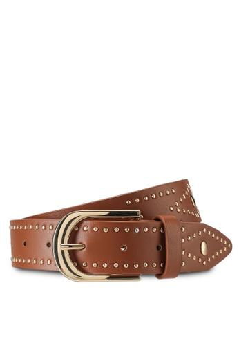 Rubi brown Fashion Studded Belt B30E8AC1E210C8GS_1