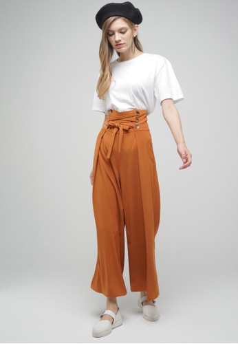Megane brown Red Romance Veronique High Waist Pants 49A4AAA0CCE3A8GS_1