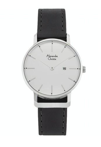 Alexandre Christie black Alexandre Christie Jam Tangan Wanita - Black Silver White - Leather Strap - 8572 LDLSSSL 58A91AC48C9A76GS_1
