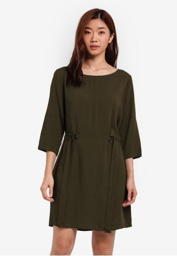 ZALORA green Shift D Ring Dress 85655ZZ9B66BA8GS_1