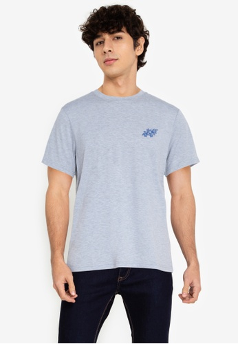 ZALORA BASICS grey Tropical T-Shirt 28D3EAAB8EFF99GS_1