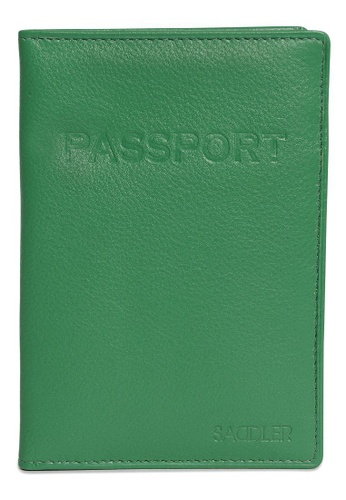 SADDLER green International Passport & Credit Card Holder Jelly Bean SA661AC01BVUHK_1