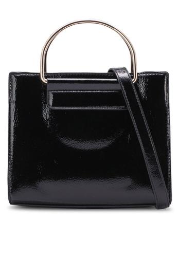 Dorothy Perkins black Black Patent Metal Handle Tote Bag DO816AC0S4T1MY_1