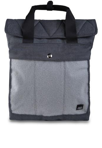 Exsport grey Grunge 2436X Laptop Backpack 554B5AC532465DGS_1