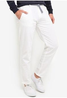 97ee5d0087f Indicode Jeans white Gordon Drawstring Linen Pants 9933FAAFD4A7F6GS_1