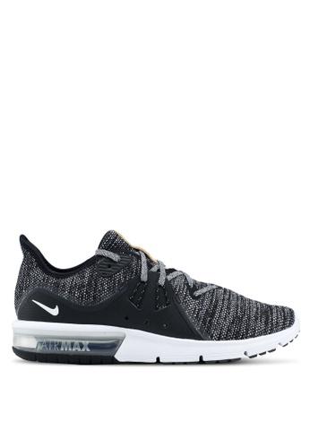Nike black Men's Nike Air Max Sequent 3 Running Shoes NI126SH0STROMY_1