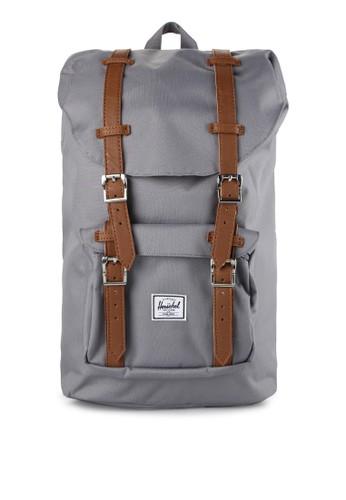 Herschel grey Little America Mid-Volume Backpack HE449AC0UDP4ID_1