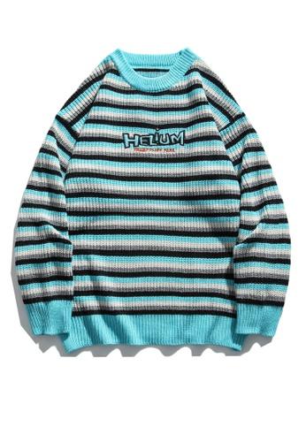 Twenty Eight Shoes Loose Contrast Stripe Knit Sweater HH05129 ED9A6AA961F479GS_1