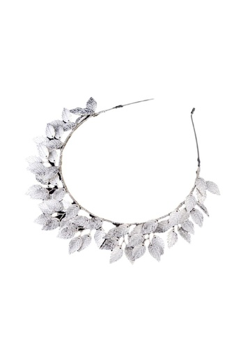 Kings Collection silver Silver Leaf Head Band (HA20019) 97668AC73F47A4GS_1