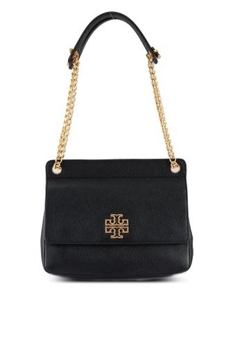 TORY BURCH black Britten Flap Shoulder Bag (NT) 92375AC0B62DE3GS_1