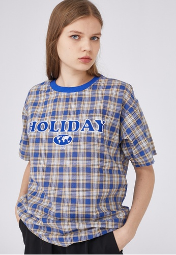 Twenty Eight Shoes Loose Embroidery Plaid T-shirt HH9017 A3671AA2601C3EGS_1