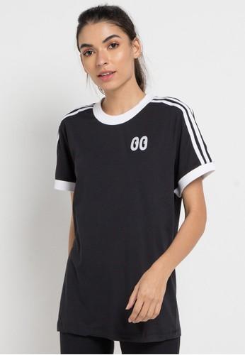 d8b494ddcf adidas black and multi adidas originals 3 stripes tee E9177AA568808FGS 1