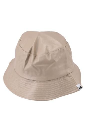 Milliot & Co. beige Dylan Bucket Hat 22927ACE549E32GS_1