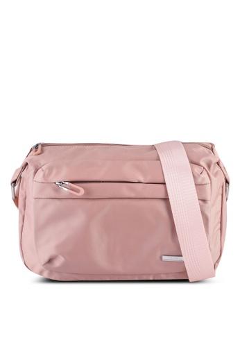 NUVEAU pink Lightweight Nylon Sling Bag 95096AC16FFCF2GS_1