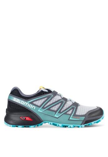 Salomon grey and multi Speedcross Vario Shoes SA438SH30WCZMY_1