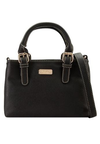 Unisa black Saffiano Multi-Compartment Convertible Tote Bag UN821AC63VDSMY_1