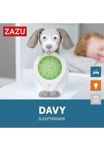 Zazu blue [Zazu Kids] Davy the Dog, Sleep Trainer with Nightlight and Alarm Clock, Comes with Analogue and Digital Clock for Kids - Blue 48E52HL0320A4AGS_1