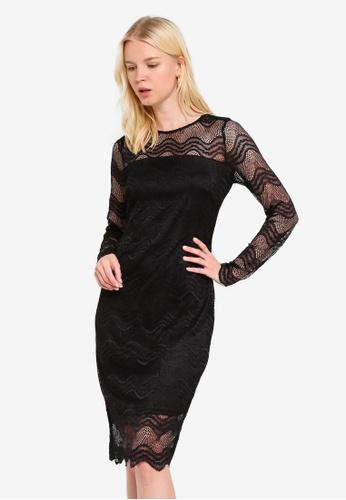 1bf9a440b29 Buy Dorothy Perkins Black Lace Bodycon Dress Online on ZALORA Singapore