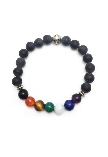 Memento Collection black Rainbow Detailed Chakras Bracelet ME060AC02UFDMY_1