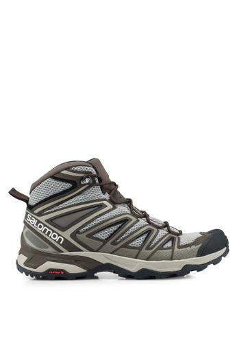 Salomon brown X Ultra Mid 3 Aero Shoes DC136SH8DC7BF8GS_1