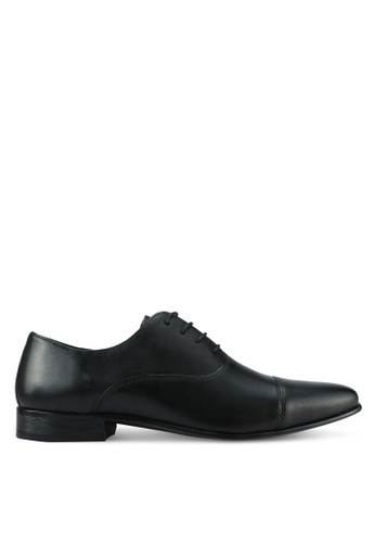 River Island black Leather Toecap Oxford Shoes FBAE3SHCBD22F5GS_1