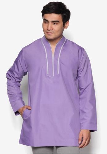 Amar Amran purple Kurta Ar Rayyan AM362AA18UQFMY_1