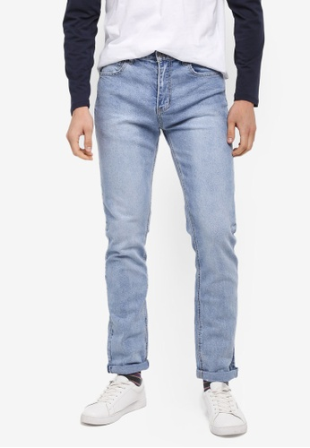 Factorie 藍色 The Throwback Jeans E8871AA29AC344GS_1