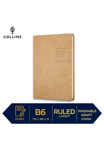 Collins brown Collins Serendipity ─ 2021 Notebook ─ Brown ─ B6 Ruled 977BFHL8593011GS_1