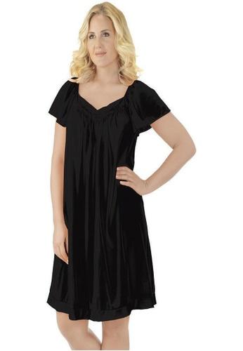 Naturana black Flutter Sleeve Evening Gown C3DE3AA13A56BEGS_1