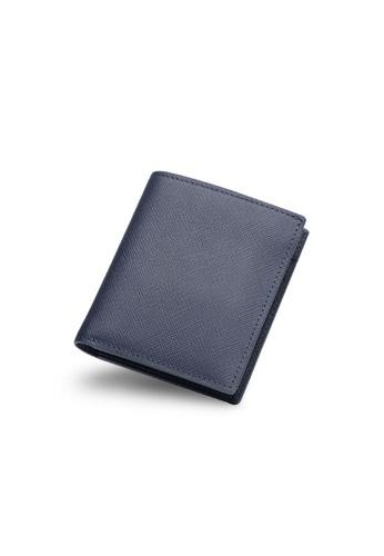 Maverick & Co. navy Maverick & Co. Cosmopolitan Pocket Leather Wallet (Navy). 11E56AC5B1ACAAGS_1