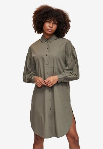 Vero Moda green Lenny Shirt Dress B3E12AABE07950GS_1