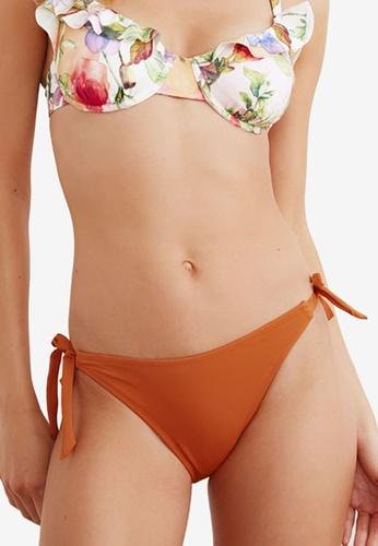 Trendyol red Tie Detail Low Waist Bikini Bottom B3ACFUS228ED52GS_1