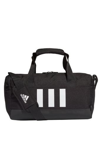 ADIDAS black essentials 3-stripes duffel bag extra small 48ECAACE433C51GS_1