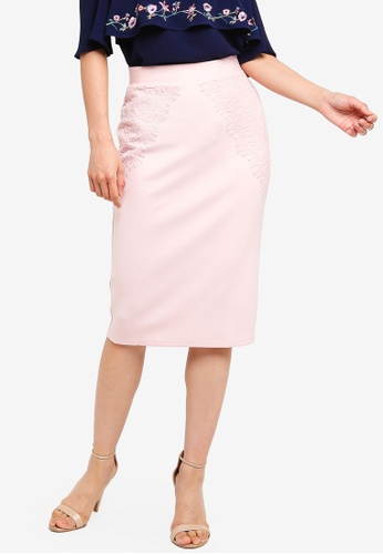 8e72079410 Dorothy Perkins pink Blush Lace Scuba Skirt 90A02AAE2B93F1GS_1. CLICK TO  ZOOM