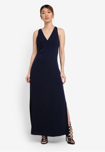 Something Borrowed blue and navy Sleeveless High Slit Maxi Dress 280C0AADF40635GS_1