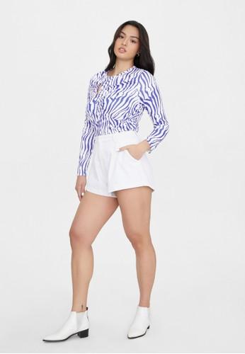 Pomelo purple Sustainable Full Sleeves Zebra Top - Purple E336FAA0A3993CGS_1