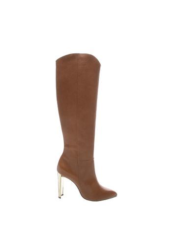SCHUTZ brown SCHUTZ Leather Long Boots - KAITLYN (NEW CARAMELO) 301ADSH5E91C53GS_1