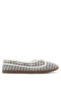 Loretta 條紋船型鞋
