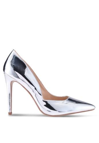 Public Desire 銀色 金屬感尖頭高跟鞋 638B8SHD9D68CCGS_1