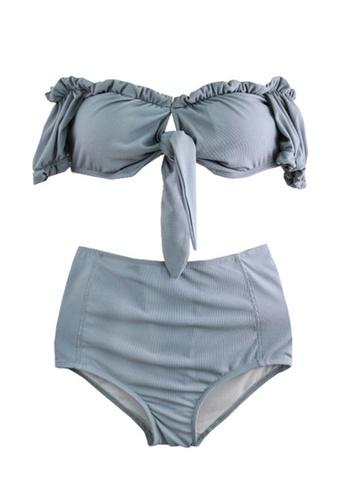 Halo 藍色 露肩比堅尼泳衣套裝 41186USF10CF83GS_1