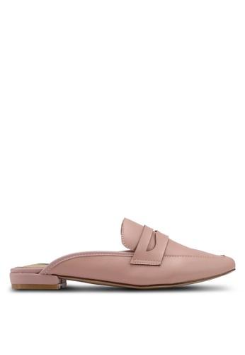 Nose pink Strap Detail Low Heel Slip-On Mules 84396SH2022010GS_1